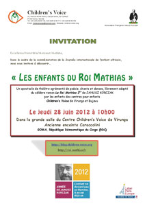 Invitation de Mathias a Goma RDC